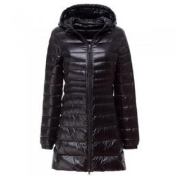 NewBang 7XL 8XL más Chaqueta larga de plumón de Invierno para mujer chaqueta Ultra ligera de mujer con capucha abajo abrigo feme
