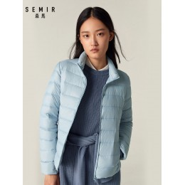 SEMIR 2019 abajo chaqueta de invierno mujeres Chaquetas cortas de algodón nuevo abajo acolchado con capucha cálido otoño Delgado