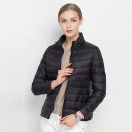 Abrigo de invierno para mujer 2018 nueva chaqueta ultradelgada de plumón de pato blanco ultradelgada de invierno para mujer