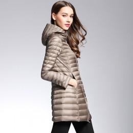 Mujer primavera con capucha acolchada chaqueta de pato blanco abajo mujer abrigo de luz Ultra Slim sólido chaquetas abrigo portá