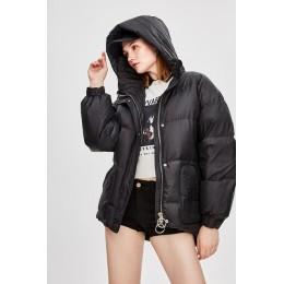 JAZZEVAR 2019 invierno nueva moda calle diseñador marca mujer blanco pato abajo chaqueta bonita niñas abrigo con cinturón