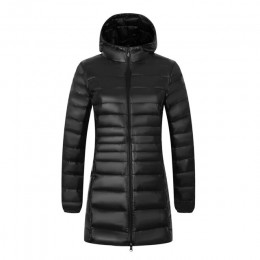 NewBang marca 6XL 7XL 8XL talla grande abajo abrigo femenino largo invierno Ultra ligero abajo chaqueta mujer chaqueta con capuc
