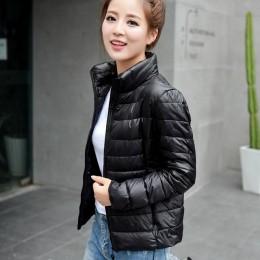 Abrigo de invierno para mujer 2018 nueva chaqueta ultradelgada de plumón de pato blanco ultradelgada de invierno para mujer s-6X