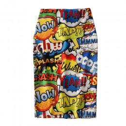 Falda de tubo para mujer 2019 nuevo estampado de ratón de dibujos animados de cintura alta faldas delgadas de verano para chica