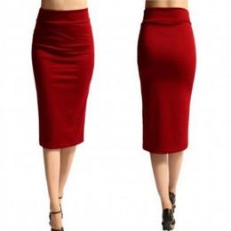 2018 nueva falda de mujer Mini Bodycon falda de oficina de mujer delgada hasta la rodilla alta cintura estiramiento Sexy lápiz f