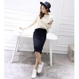 2016 faldas de verano Sexy Chic lápiz Faldas Mujer falda lana Rib Knit Falda larga paquete cadera Split cintura midi falda maxi