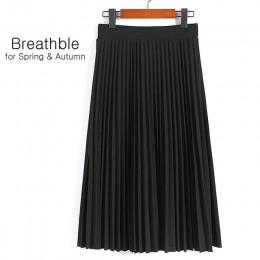 SheBlingBling primavera otoño moda mujer alta cintura plisada Color sólido media longitud falda elástica promociones señora negr