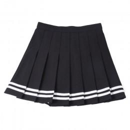 XS-3XL falda de mujer estilo Preppy alta cintura elegante costura faldas verano estudiante plisado Falda Mujer Linda dulce chica