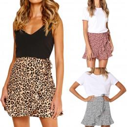 Faldas de mujer 2019 mujer Casual Retro de cintura alta fiesta falda de impresión corta en stock faldas sexis baratas saia midi