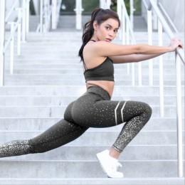 NORMOV nuevo Hotsale Leggings estampados dorados para mujer sin mallas transparentes para ejercicio Fitness Push Up entrenamient