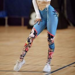 CHRLEISURE las mujeres Impresión Digital impresión polainas alta cintura arriba Leggins Mujer Fitness polainas de mujeres Pantal