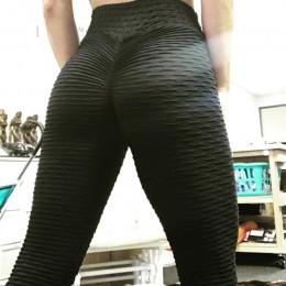 Mallas deportivas de cintura alta para mujer, mallas de Push Up, mallas de moda de Color sólido, Jeggings para mujer