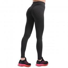 Moda Leggings Push Up Leggings de entrenamiento de mujer Leggings delgados de poliéster v-waist Jeggings mujeres pantalones lápi