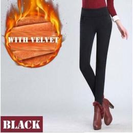 WKOUD Leggings de invierno para mujer talla grande de cintura alta estiramiento grueso Legging sólido Delgado cálido terciopelo