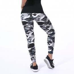 30 colores 2019 camuflaje estampado elástico Leggings verde/azul/gris camuflaje Fitness pantalones leggins Casual para mujer