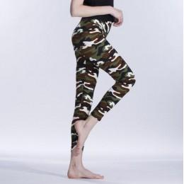 VISNXGI nueva moda 2019 camuflaje estampado elástico Leggings camuflaje Fitness pantalón leggins Casual leche Legging para mujer