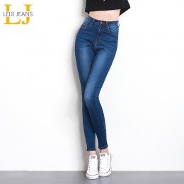 Jeans para mujer mom Jeans cintura alta Mujer alta elástico más tamaño estiramiento Jeans Mujer lavado denim skinny lápiz pantal