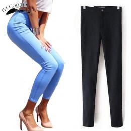 Jeans para mujer Vaqueros elásticos negros para mujer 2019 pantalones vaqueros ajustados para mujer con cintura alta Mujer Denim