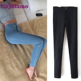 Pantalones vaqueros ceñidos de cintura alta para mujer pantalones vaqueros de cintura alta para mujer tamaño