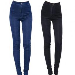 2019 nuevos pantalones vaqueros de moda para mujer Pantalones de tubo de Vaqueros cintura alta ajustados elásticos Sexy pantalon
