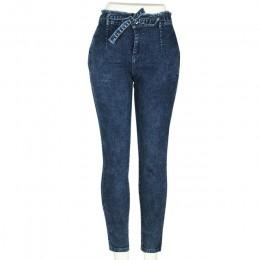 Vaqueros de cintura alta de las mujeres Streetwear vendaje Denim Plus tamaño pantalones vaqueros Mujer lápiz pantalones Jeans Mu