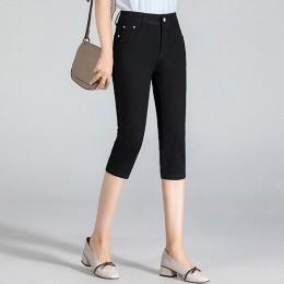 GAREMAY pitillo Capris vaqueros Mujer elástico de la longitud de la rodilla Denim Pantalones cortos pantalones de las mujeres co