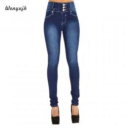 WENYUJH nuevo Otoño Invierno mujer Skinny Jeans Denim lápiz pantalones vaqueros de alta cintura de marca vaqueros