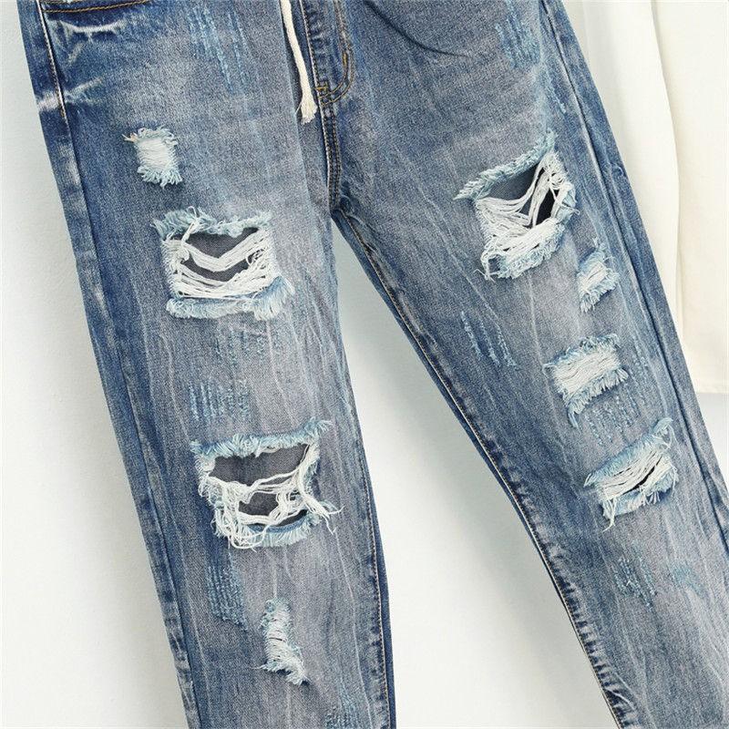 Verano Rasgado Novio Jeans Para Mujer Moda Suelta Vintage Alta Cintura Jeans Talla Grande Pantalones Vaqueros 5xl Mujer Vaqueras Undershop Es