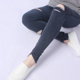 Yesello talla grande M-5XL verano agujero rasgado Jeans mujeres Jeggings Cool Denim alta cintura Skinny pantalones vaqueros lápi