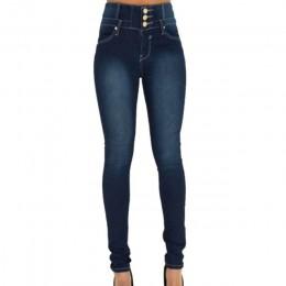 Litthing 2019 primavera otoño mujer Skinny Denim ligero lápiz pantalones vaqueros elásticos cintura alta Slim botón bolsillos Pa