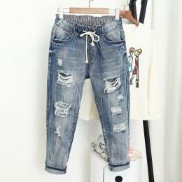 Verano rasgado novio Jeans para Mujer moda suelta Vintage alta cintura Jeans talla grande Pantalones Vaqueros 5XL Mujer vaqueras