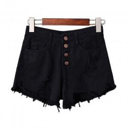 Pantalones cortos de mezclilla de talla grande de verano rasgados con borla de cintura alta Sexy para mujer