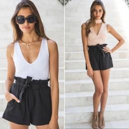 HIRIGIN caliente verano Casual Shorts playa alta cintura corta moda mujer