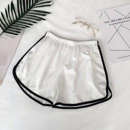 2019 pantalones cortos casuales de mujer Simple de retazos para entrenamiento de Fitness para el cuerpo pantalones cortos elásti