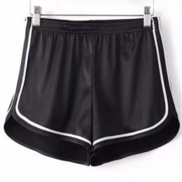 2019 nuevas mujeres pantalones cortos de verano sedoso delgado de cintura alta Casual blanco Egde pantalones cortos de moda de v