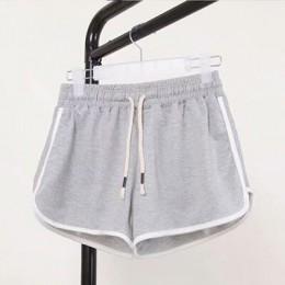 DICLOUD moda verano Casual Shorts mujer 2019 estiramiento de cintura alta botín Shorts mujer negro blanco suelto playa Sexy cort