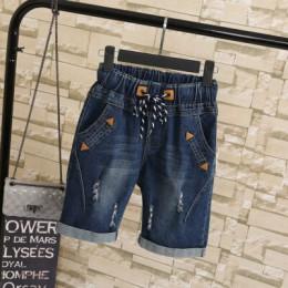 Las mujeres de gran tamaño grasa MM estudiantes de verano Pantalones cortos de mujer de 200 libras, más tamaño cinco puntos anch