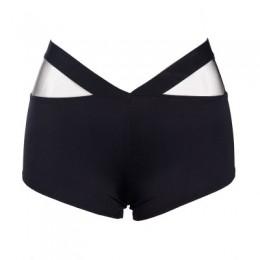 Pantalones cortos deportivos de mujer poliéster Skinny cintura elástica gimnasio entrenamiento cintura flaco pantalones cortos 2