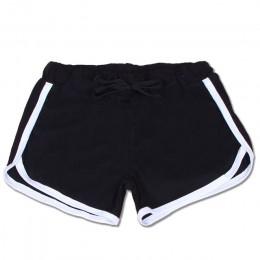 2017 de ocio de verano de algodón de las mujeres pantalones cortos contraste obligatorio lateral sueltos cintura elástica pantal