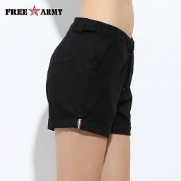 FreeArmy marca pantalones cortos de verano para mujer dos diseños pantalones cortos de algodón Casual para mujer Pantalones cort