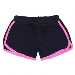 Causal de verano las niñas y las mujeres multicolores pantalones cortos de algodón de las señoras suave acogedor elástico Skinny