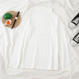 Camiseta con cuello alto de mujer a rayas de manga larga Camiseta básica de estiramiento con hombro caído Camiseta básica perfec