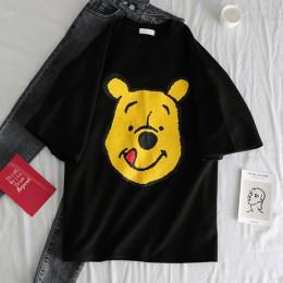 Ulzzang camisetas manga corta Streetwear kawaii dibujos animados imprimir Camiseta estilo coreano Tops Harajuku cerano 2019 casu