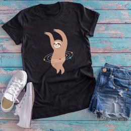 Camiseta divertida Casual de algodón Mujer Desnuda Banana estampado de dibujos animados cuello redondo Camiseta de manga corta M