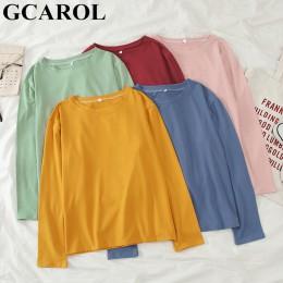 Camiseta de gran tamaño de primavera y otoño 2019 de gpatrol para mujer, camiseta Casual de calle de caramelo, blusas básicas pe
