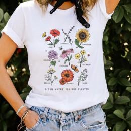 Camisetas con gráficos de flores salvajes para mujeres Camiseta con estampado Floral para mujeres con plantas de Sol estas camis