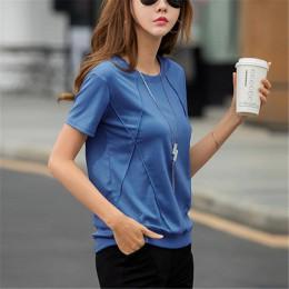 Camisas de mujer suave de algodón de las mujeres camisetas Tops camisetas suelta ajuste camisa de verano 2019 de manga corta Cam