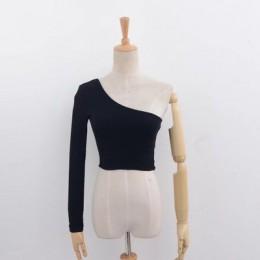 De hombro Sexy mujer de cultivos Top mujeres blanco negro Tops Streetwear elástico corto T, camiseta, pantalones estampados cami