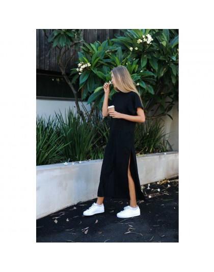 Maxi camiseta Vestido Mujer invierno Navidad Fiesta playa Sexy Boho Casual Vintage vendaje ajustado negro vestidos largos talla