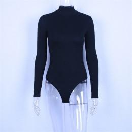 Hugcitar algodón de cuello alto de manga larga sólido bodysuit 2019 Otoño Invierno mujeres de moda de fiesta ceñido al cuerpo bá